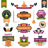 Halloween Badges and Labels Royalty Free Stock Image