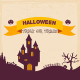Halloween Badges and Labels in Vintage style. Stock Image
