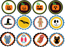 Halloween  Badges Royalty Free Stock Image