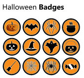 Halloween badges Royalty Free Stock Images