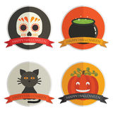 Halloween badges Royalty Free Stock Photos