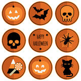 Halloween badges Stock Image