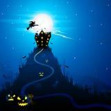 Halloween bakgrund Arkivbilder