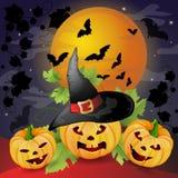 Halloween bakgrund Royaltyfria Bilder
