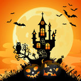 Halloween bakgrund Arkivfoton
