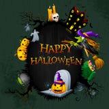 Halloween bakgrund Royaltyfri Bild