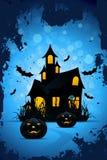 Halloween bakgrund med pumpor Royaltyfria Bilder