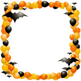 Halloween balloon frame Stock Photos