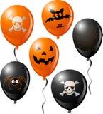 Halloween balloon set vector illustration