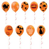 Halloween balloons Stock Photo