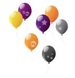 Halloween balloons Stock Images