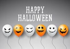 Halloween balloons background Stock Photo