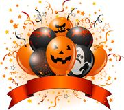 Halloween balloons design Royalty Free Stock Images