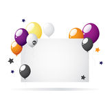 Halloween balloons with place for text. Bitmap picture with an additional vector file Royalty Free Stock Photography