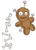 Halloween, bambola di voodoo Illustrazione Vettoriale