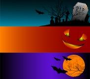 Halloween baner stock illustrationer