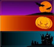 Halloween baner royaltyfri illustrationer