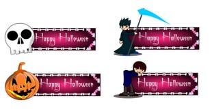 Halloween baner Arkivfoton