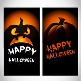 Halloween baner met pompoen Stock Afbeelding
