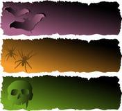 Halloween banerSet Fotografering för Bildbyråer