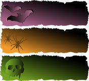 Halloween banerSet vektor illustrationer