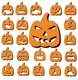 halloween bani set royalty ilustracja