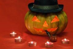 halloween Bania z jarzyć się oczy zdjęcie stock