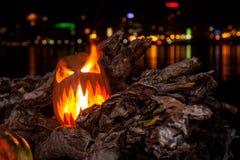 Halloween bania z paleń oczami Obrazy Royalty Free