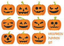 halloween banie ustawiać Zdjęcia Stock