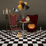 Halloween bankett Royaltyfria Bilder