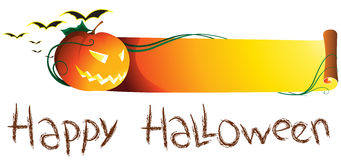 Halloween banner. An illustration of halloween banner Royalty Free Stock Images