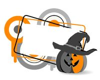 Halloween banner. Background for Halloween with frame and funny pumpkin Royalty Free Stock Image