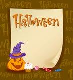 Halloween banner Stock Image