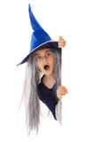 Halloween banner. Witch banner isolated on white background