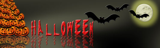 Halloween banner 7 Royalty Free Stock Photo