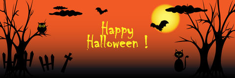 Halloween banner Royalty Free Stock Photography