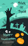 Halloween Banner Cemetery Graveyard Hand From Stock Images