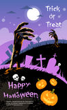 Halloween Banner Cemetery Graveyard Hand From Royalty Free Stock Photo