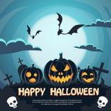 Halloween Banner Cemetery Graveyard Party Stock Photos