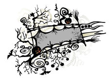 Halloween banner frame Royalty Free Stock Images