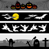 Halloween Banner Group Royalty Free Stock Photo