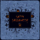 Halloween banner on grunge background Stock Photo