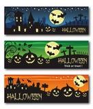 Halloween banner illustration design Royalty Free Stock Photos
