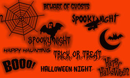 Halloween banner on orange Stock Images