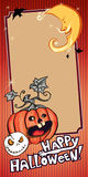 Halloween Banner orange Royalty Free Stock Photos