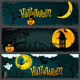 Halloween banner set Royalty Free Stock Image