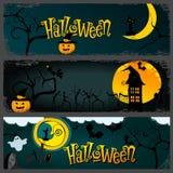 Halloween banner set stock illustration