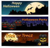 Halloween banner set Stock Photos