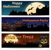 Halloween banner set Stock Photos