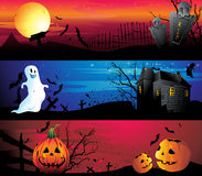 Halloween banner set Stock Photo